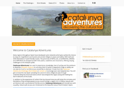 Catalunya Adventures website