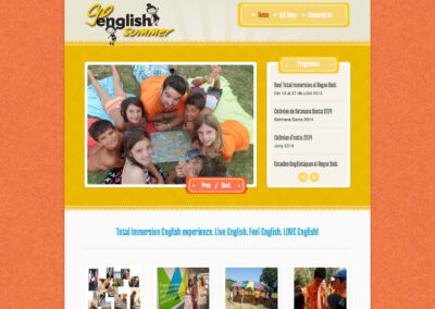 Go English Summer website